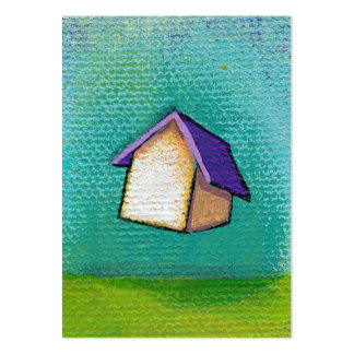 Flying house traveling home fun colorful happy art business card templates