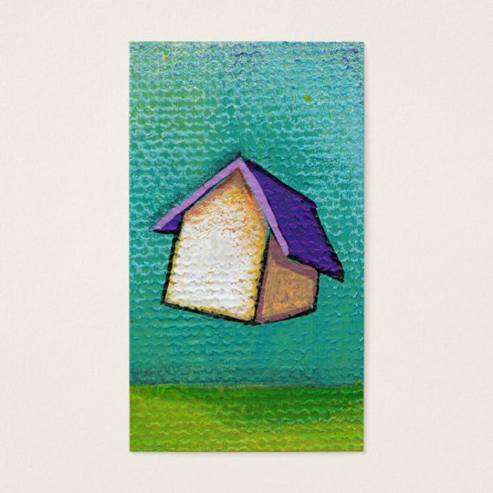 Flying house travelling home fun colourful happy business