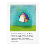 Flying house travelling home fun colourful happy 21.5 cm x 28 cm flyer