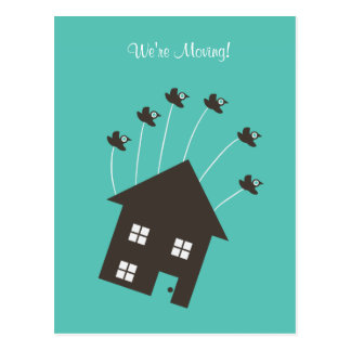 Flying House - We re Moving - Post Card