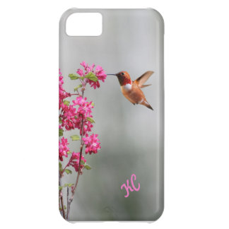 Flying Hummingbird and Flowers iPhone 5C Covers