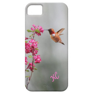 Flying Hummingbird and Flowers iPhone 5 Cases