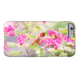 Flying Hummingbird and Flowers iPhone 6 Case