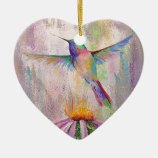 Flying Hummingbird Christmas Ornament