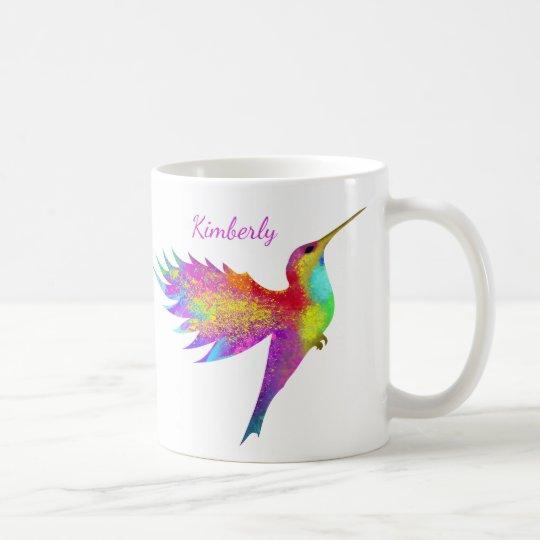 Flying Hummingbird Custom Name Mug