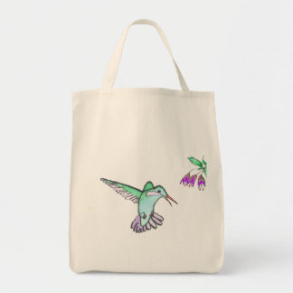 Flying Hummingbird Grocery Tote