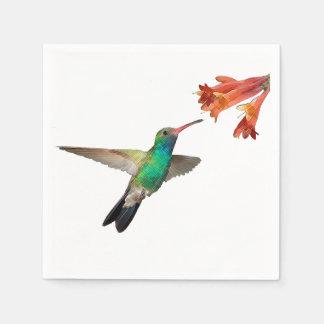 Flying hummingbird paper napkins. disposable napkin