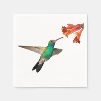 Flying hummingbird paper napkins. paper napkins
