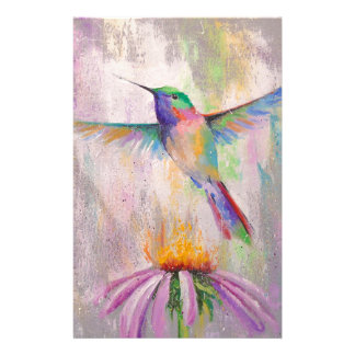 Flying Hummingbird Personalized Stationery