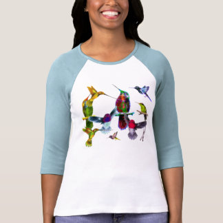 FLYING HUMMINGBIRDS Nature Lover's Shirt