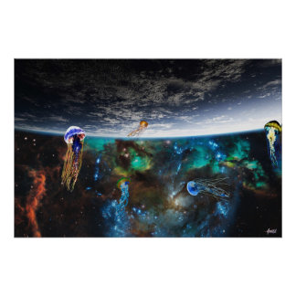 Flying in the sea of stars poster