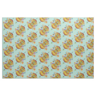 Flying infinity fabric wih psychedelic butterfly