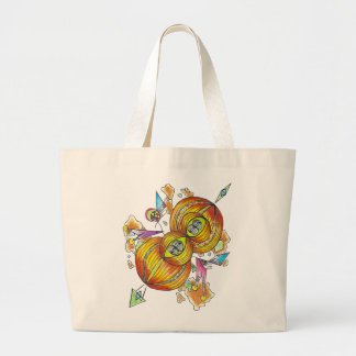 Flying infinity tote bag.psychedelic butterfly.