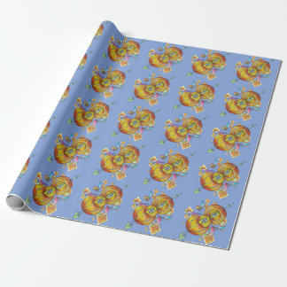flying infinity wrapping paper. Bohemian butterfly Wrapping Paper