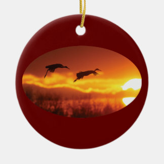 flying into the sunset christmas ornament