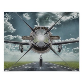 Flying Into You Aircraft Poster