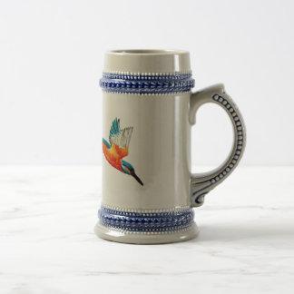 Flying Kingfisher Art Beer Stein