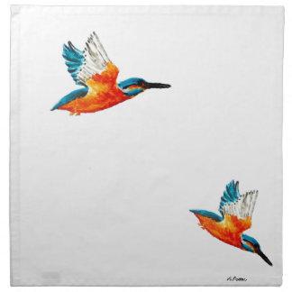 Flying Kingfisher Art Napkin