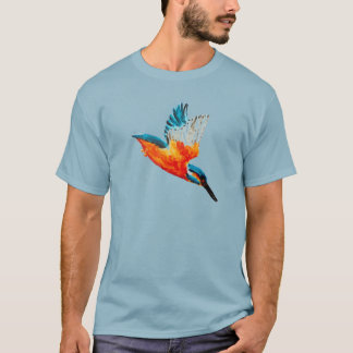 Flying Kingfisher Art T-Shirt
