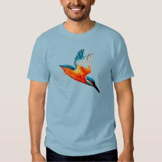 Flying Kingfisher Art T-shirts