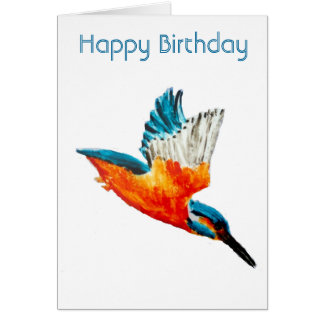 Flying Kingfisher Card