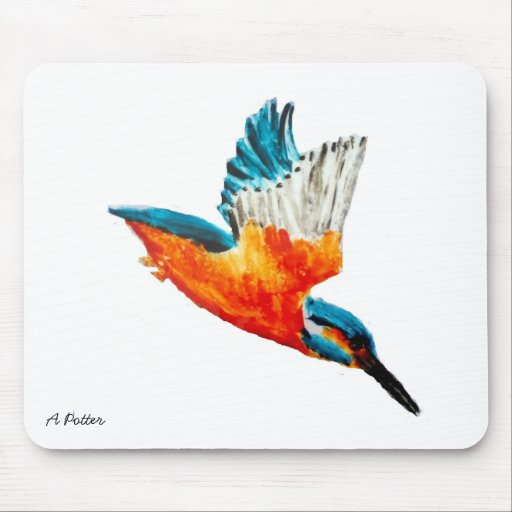 Flying Kingfisher Mouse Mat