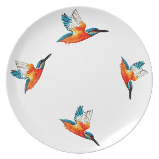 Flying Kingfisher Plate