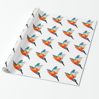 Flying Kingfishers Wrapping Paper