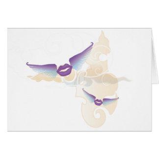 Flying Kisses En Route Note Card