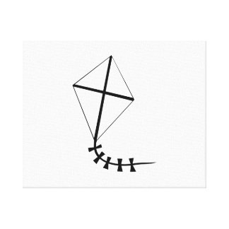 Flying Kite Stretched Canvas Prints