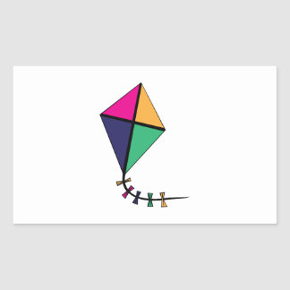 Flying Kite Rectangular Sticker