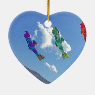 Flying Kites Ceramic Heart Decoration