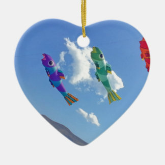 Flying Kites Christmas Ornament