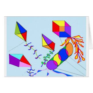 flying-kites greeting card