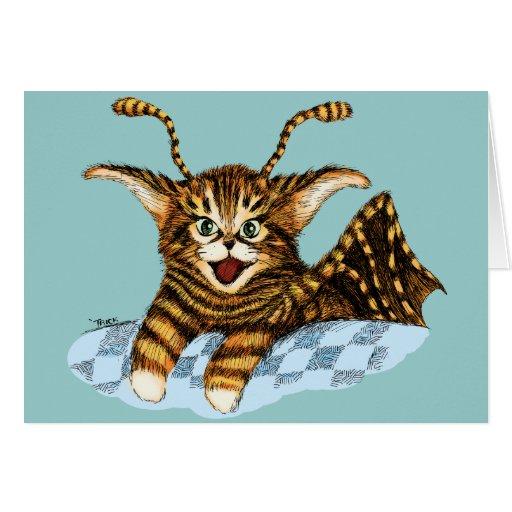 Flying Kitten Card