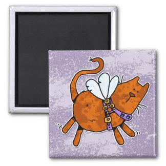 flying kitty magnet