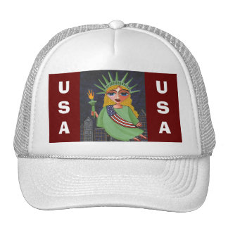 Flying Lady Liberty - cap Trucker Hat