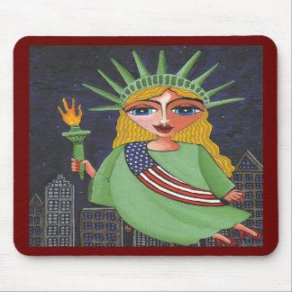 Flying Lady Liberty - mousepad #2