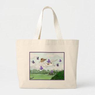 Flying Large Tote Bag