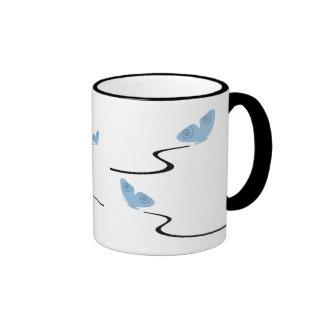 Flying, light blue butterflies mug