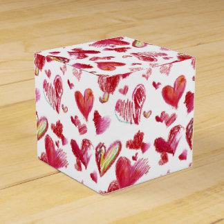 Flying Love Hearts Paper Box Favor Boxes