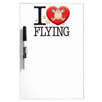 Flying Love Man Dry Erase Board
