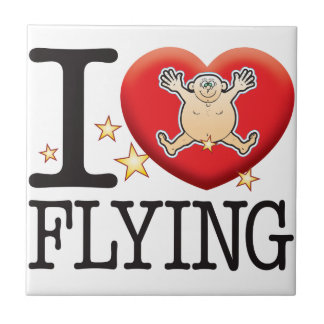 Flying Love Man Small Square Tile