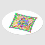 Flying Magical Carpet n 12 Decorative Designs Oval Stickers