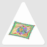 Flying Magical Carpet n 12 Decorative Designs Triangle Sticker
