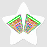 Flying Magical Carpet n 12 Decorative Designs Star Stickers