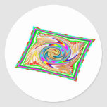 Flying Magical Carpet n 12 Decorative Designs Round Stickers