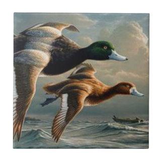 Flying Mallard Ducks. Tile