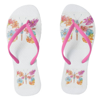 Flying meadow flip flops