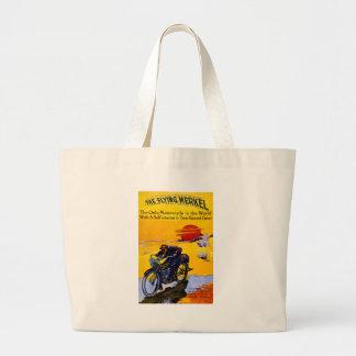 Flying Merkel 1913 Vintage Motorcycle Ad Tote Bag